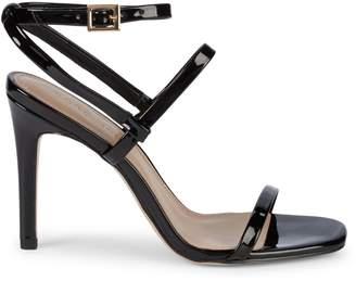 BCBGeneration Ivanna Patent Stack Heel Sandals