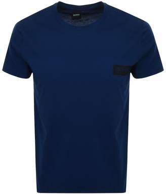 252355554 HUGO BOSS Boss Business Crew Neck T Shirt Navy