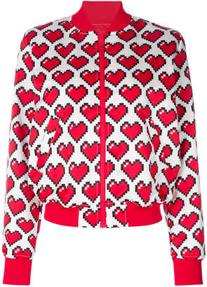 Love Moschino heart print bomber jacket