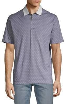 Robert Graham Osaka Patterned Cotton Polo