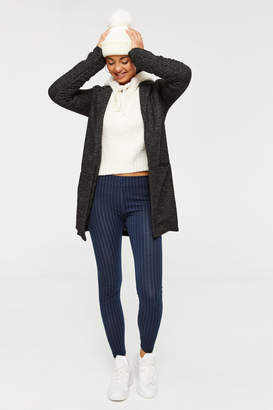 Ardene Heavy Knit Striped Leggings