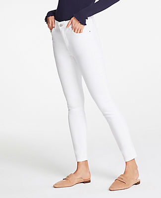 Ann Taylor Tall Modern Skinny Jeans In White