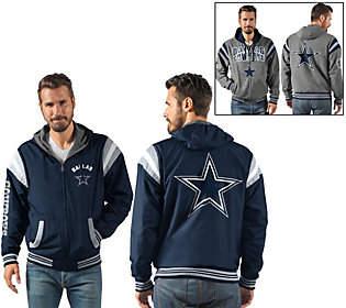 NFL Dallas Ultimate Fan Reversible Hooded FullZip Jacket