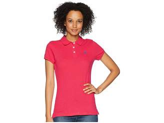 U.S. Polo Assn. Solid Pique Polo Women's Short Sleeve Knit