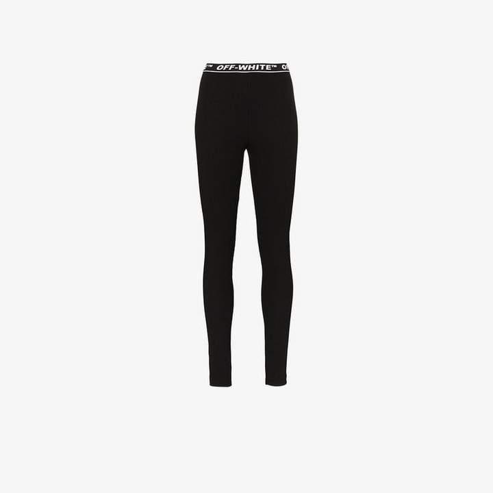 Off White cannette logo waistband leggings