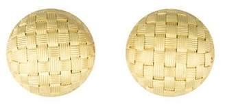 18K Round Woven Earrings