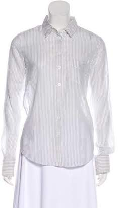 Band Of Outsiders Striped Button-Up Top w/ Tags
