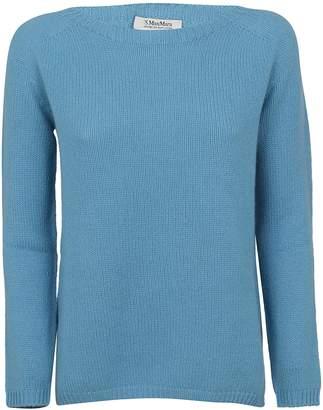 Max Mara Blue Cashmere Sweater