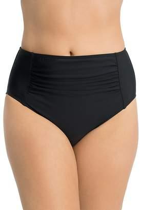 Shape Solver Ultra High Waist Shirred Bikini Bottom