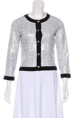 Womens White Sequin Cardigan - ShopStyle 674d29efd