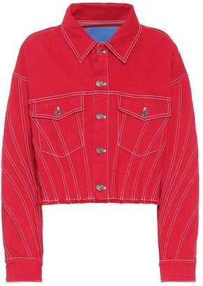 Thierry Mugler Cropped stretch denim jacket