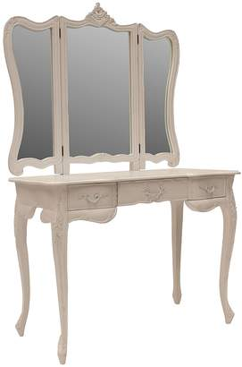 Hudson Furniture Dressing Table Paris Dressing Table, Large, WhiteLP