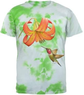Old Glory Humming Bird in Spring Mens T Shirt Lightning Tie Dye MD