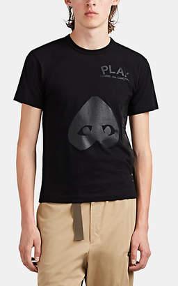 Comme des Garcons Men's Heart-Graphic Cotton T-Shirt - Black