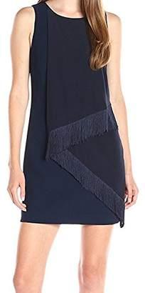 Trina Turk Women's Aileen Classic Crepe Fringe Dress