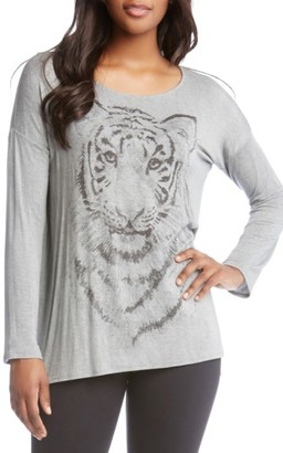 Women's Karen Kane Tiger Print Long Sleeve Tee $88 thestylecure.com