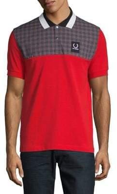 Raf Simons Fred Perry x Check Yoke Pique Polo Shirt