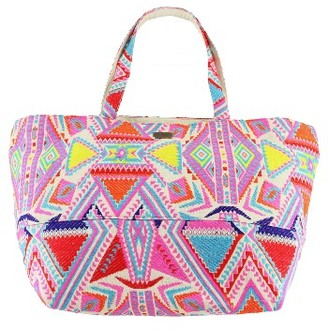 O'Neill Crystal Cove Embroidered Tote - Pink $59.50 thestylecure.com
