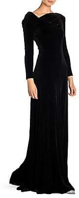 Giorgio Armani Women's Asymmetric Velvet Gown