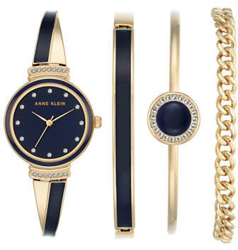 Anne Klein Anne Klein Four-Piece Bracelet Watch & Bangle Set
