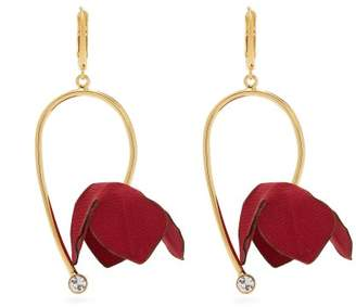 Marni Flora Fabric And Strass Earrings - Womens - Red