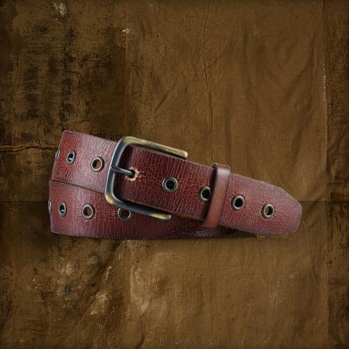 Denim & Supply Ralph Lauren Grommet-Trim Leather Belt