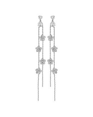 Jon Richard Claudia Canova Flower Linear Drop Earring