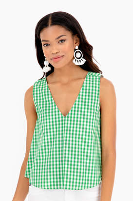 Just Madras Gingham Christine Top