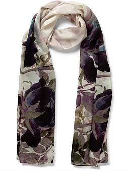 Gregory Ladner Floral Silk Touch Scarf