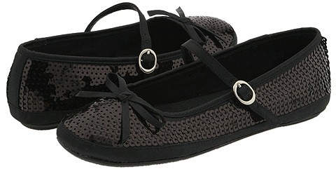 Mia Kids - Mambo (Toddler/Youth) (Black Satin w/Sequins)