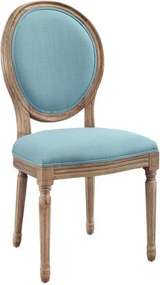 Linon Avalon Linen Oval Back Chair