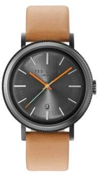 Ted Baker Dress Sport Genuine Leather Strap Watch