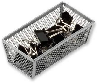 Honey-Can-Do 6 x 3 Inch Steel Mesh Drawer Organizer, Silver