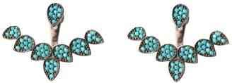 Wild Hearts - Turquoise Petal Ear Jackets