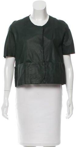 MarniMarni Leather Short Sleeve Jacket