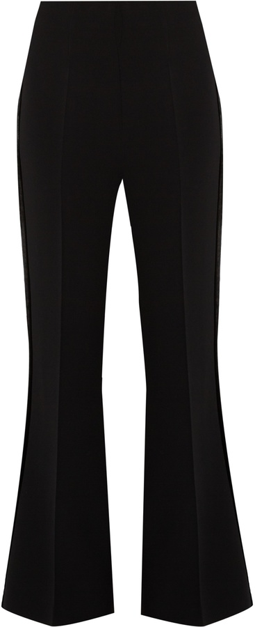 ROLAND MOURET Connor stretch-cady kick-flare trousers