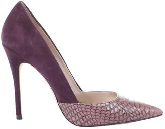 Jean-Michel Cazabat Jean Michel Cazabat Purple Leather Heels