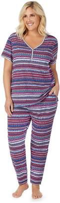 Cuddl Duds Plus Size Sleep Henley & Pajama Pants Set
