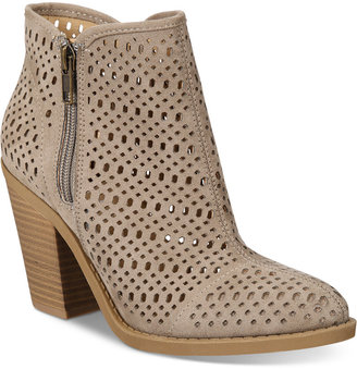 Esprit Kay Block-Heel Perforated Booties $69 thestylecure.com