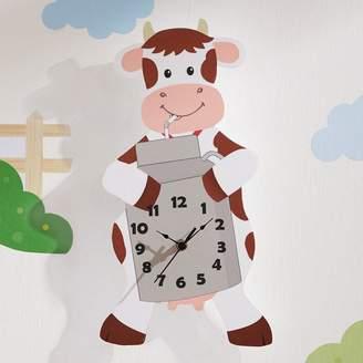 Fantasy Fields by Teamson Happy Farm Cow Wall Clock