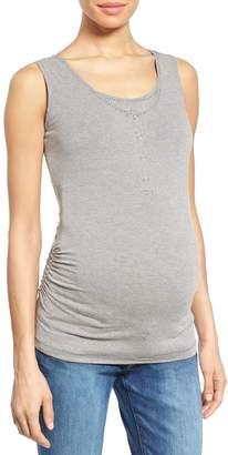 Nom Maternity Henley Maternity Tank Top
