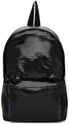 Comme des Garcons Black Small Croc Faux-Leather Backpack