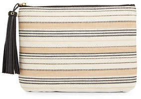 Karl Lagerfeld PARIS Toby Natural Stripe Pouch