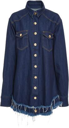 Caroline Constas Shirt Dress With Ruffle
