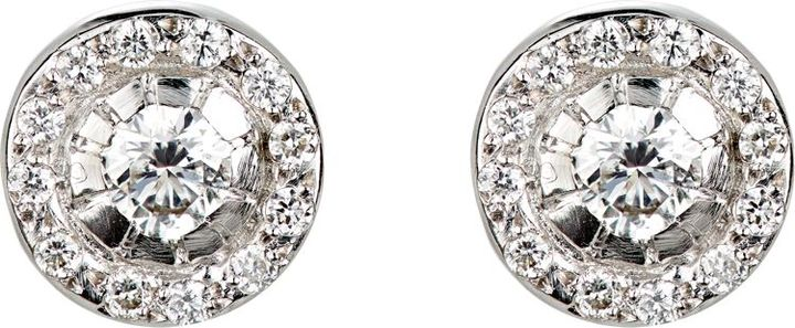 Ileana Makri Women's Circular Stud Earrings-Colorless