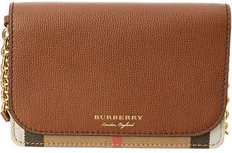 Burberry Hampshire House Check & Leather Wallet