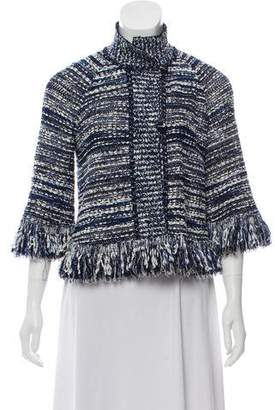 St. John Wool-Blend Bouclé Jacket