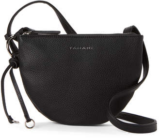 Tahari Black Mini Ring Ding Crossbody