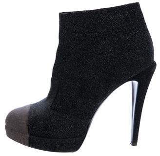 Chanel Cap-Toe CC Platform Booties