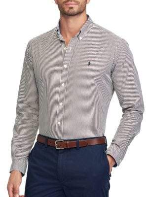 Polo Ralph Lauren Classic Fit Striped Cotton Casual Button-Down Shirt